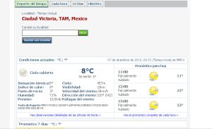clima en Mexico