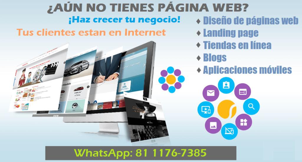 Diseño de páginas web, Landing page, Tiendas en línea, Apps.