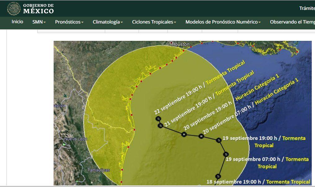 alertan tormenta en Tamaulipas